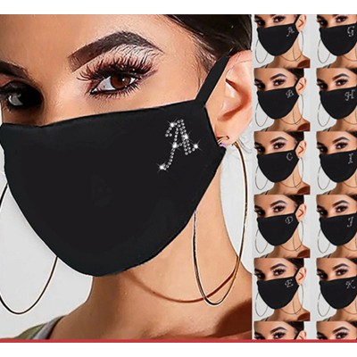 2pcs Diamond Reusable Face Masks bling Face Masks cold proof warm Reusable Face Masks Adult Reusable Face Masks