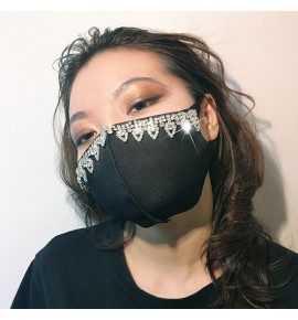 3pcs fashion rhinestones Reusable face masks for unisex party night club stage performing photos shooting face masks
