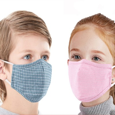 3PCS Reusable face masks for kids cotton material anti-dust PM 2.5 proof mouth mask for boy and girls