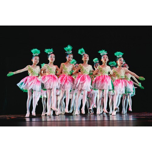 779281471570 ... Kids jazz singers chorus petals modern dance stage performance dresses  party group school competition dancing costumes ...