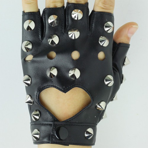 boy jazz modern hiphop rivet gloves kids punk rock dance accessories stage performance photos host singers dancers gloves mitten