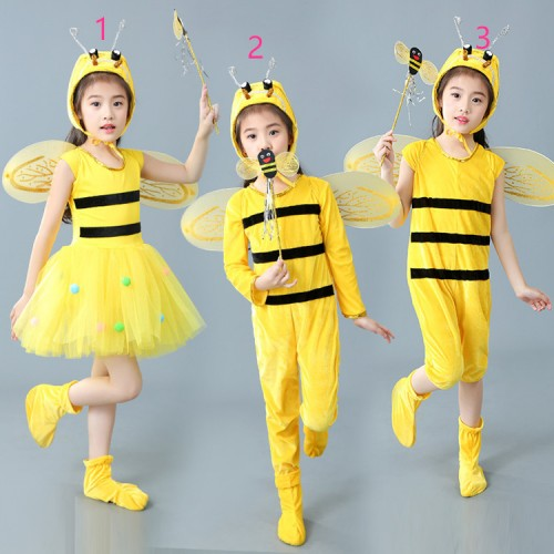 Girls modern dance cartoon bee animal anime drama party school show cosplay costumes school competition outfits