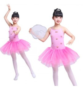 Girls jazz princess modern dance ballet dresses petal flower girls stage performance chorus costumes dress