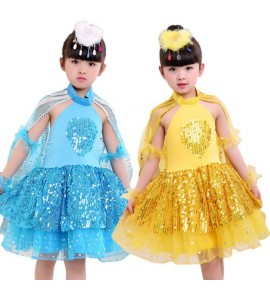 girls modern dance jazz dance costumes sequin singers chorus kindergarten birds animal  anime cartoon fairy cosplay dresses