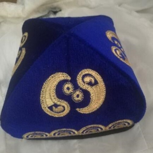 Chinese Xinjiang minority Uygur stage performance hat Handmade Octagon cap