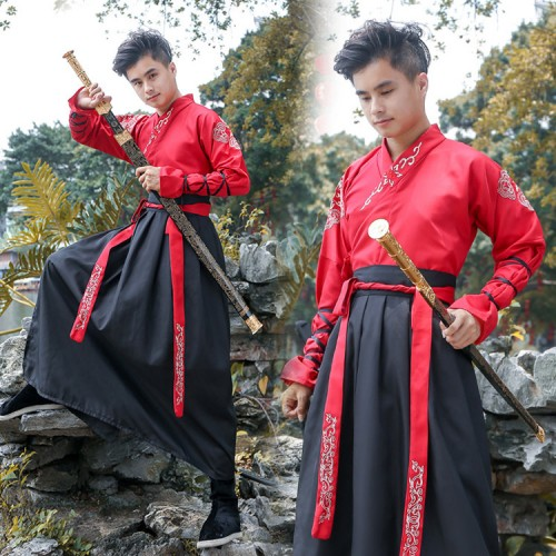 Hanfu Women's men's chinese folk dance costumes warrior costumes chinese folk dance costumes robes dresses