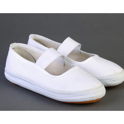 Girls kids ballet gymnastics dance white clothing shoes kindergarten baby rubber soles shoes comfortable flat shoes for school performance