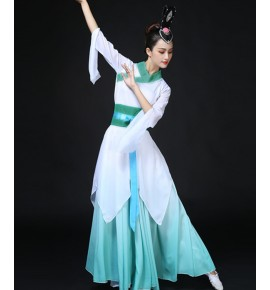 Women's chinese folk dance costumes ancient traditional hanfu classical yangko fairy princess cosplay dresses