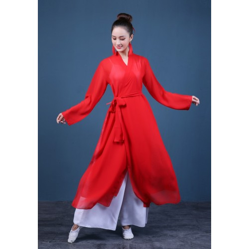Women's chinese folk dance costumes hanfu ancient traditional classical dance dress
