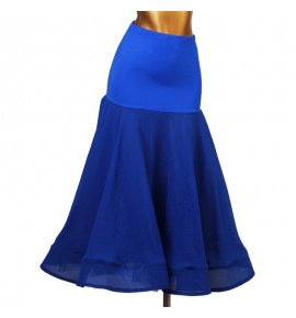 Women's girls royal blue black red ballroom dancing skirts waltz tango dance skirts costumes