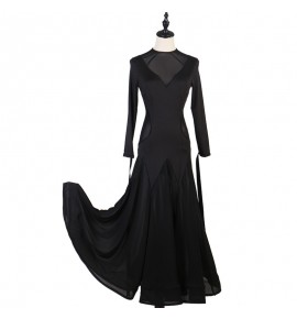 Women's girls royal blue black wine ballroom dancing dresses waltz tango dance dresses