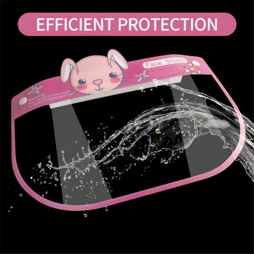 10pcs Kids anti direct splash droplet double layer anti-fog HD face  shield full face cover protect mask for children