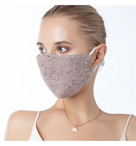Reusable face masks for unisex sequins fashion dust proof protection party night club mouth mask for women and men