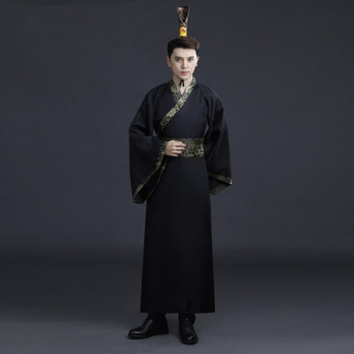 Chinese traditional hanfu warriors knight swordsmen movies film performance cosplay robes for men photos studio shooting costumes