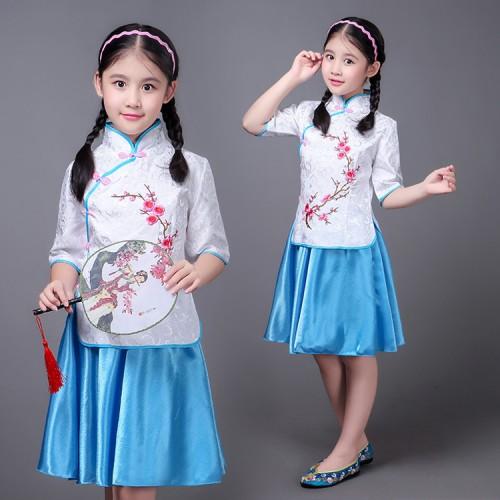 e56988e2a ... Chinese folk dance princess dress for children girls photos drama  cosplay hanfu students china style cheongsam ...