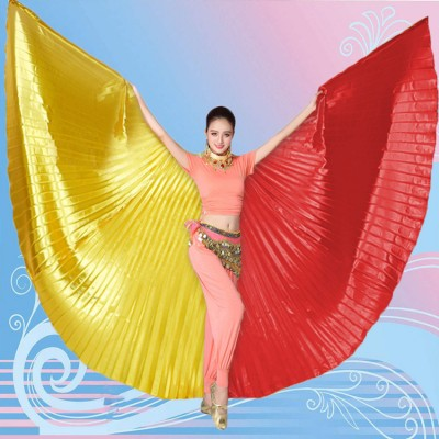 Adult two-color belly dance wings stage performance cosplay dance props Indian dance wings