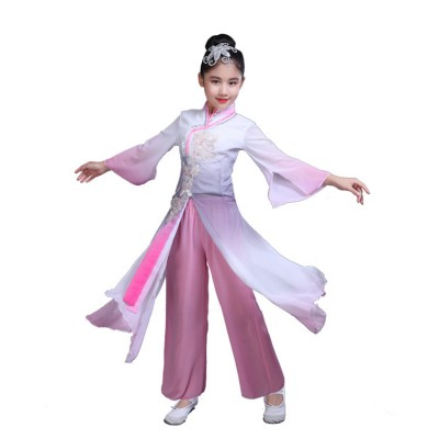 Ancient traditional Chinese folk dance dresses hanfu fairy party cosplay stage performance costumes clothes dresses