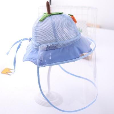 anti spray saliva Baby toddlers summer fisherman's cap with clear face shield for kids virus proof outdoor protective hat for children