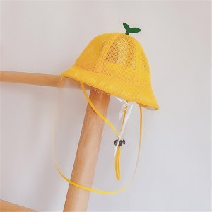 baby anti-spray saliva droplet fisherman's cap for kids summer outdoor sunscreen breathable protective cap for children