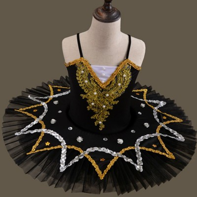 Ballet dance dresses for girls kids children swan lake ballerina modern dance costumes stage performance tutu skirts
