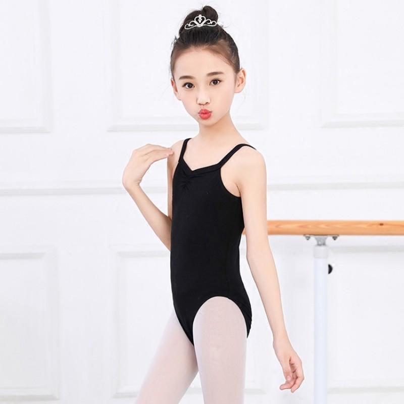 Girls Long Sleeve School Wear Uniform Dance Ballet Gymnastics Sports Leotard Black