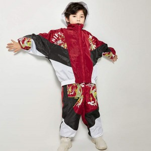 Boy children dragon china styles rap hiphop street dance costumes singers model show competition stage performance outfits