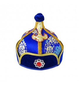 Boy kids Mongolian dance performance Hat Spire Mongolian Child Royal Hat kids Minority Dance Performance Hat