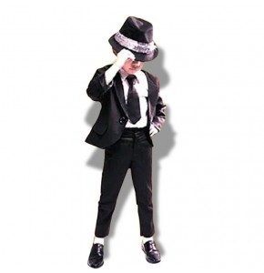 Boys singers dancing outfits magician jazz breaking dance party show modern dance stage performance top and pants and hat