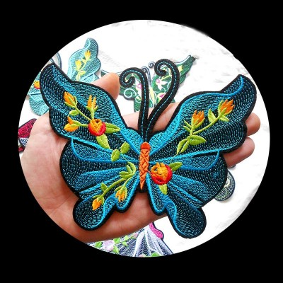 Butterfly embroidery cloth stickers Dance clothes patch stickers decorative cloth stickers accessories