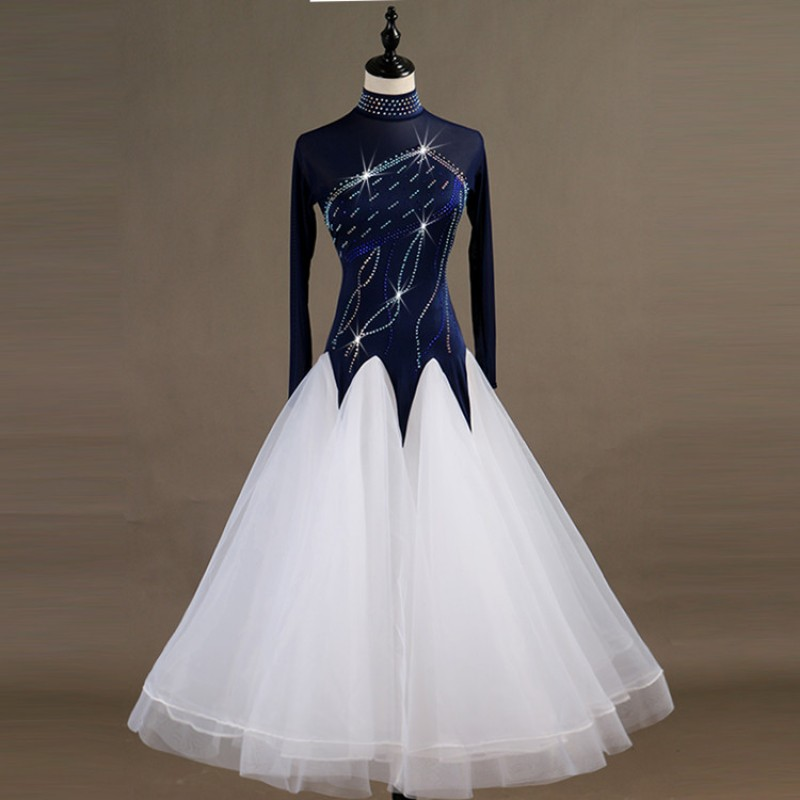 08a781897 Children adult Ballroom dancing dresses waltz tango dancing big skirted  competition stage performance professional long length