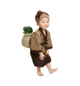Children ancient chinese hanfu  for boys girls drama photography three characters Confucius student cosplay dresses costumes