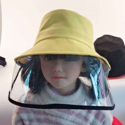 children Anti-spray saliva direct splash fisherman's cap with face shield outdoor sun protection protective hat for kids