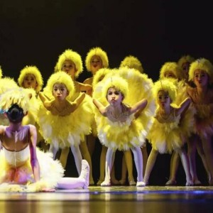 Children ballet dance dresses modern dance feather yellow cartoon duck cosplay stage performance photography cosplay costumes dresses
