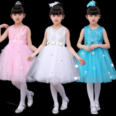 Children flower girls jazz princess ballet dress discount modern dance stage performance costumes dress