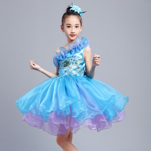 Children jazz dance costumes boys kids children modern dance singers princess ballet chorus school show performance dresses costumes