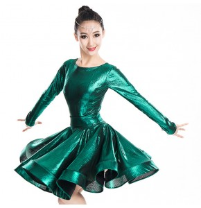 Children latin dance dresses girls kids school ballroom salsa chacha rumba competition professional dance skirts costumes