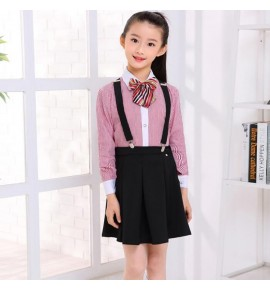 Children stage performance chorus costumes for boys girls striped school competition uniforms kindergarten evening party dresses outfits