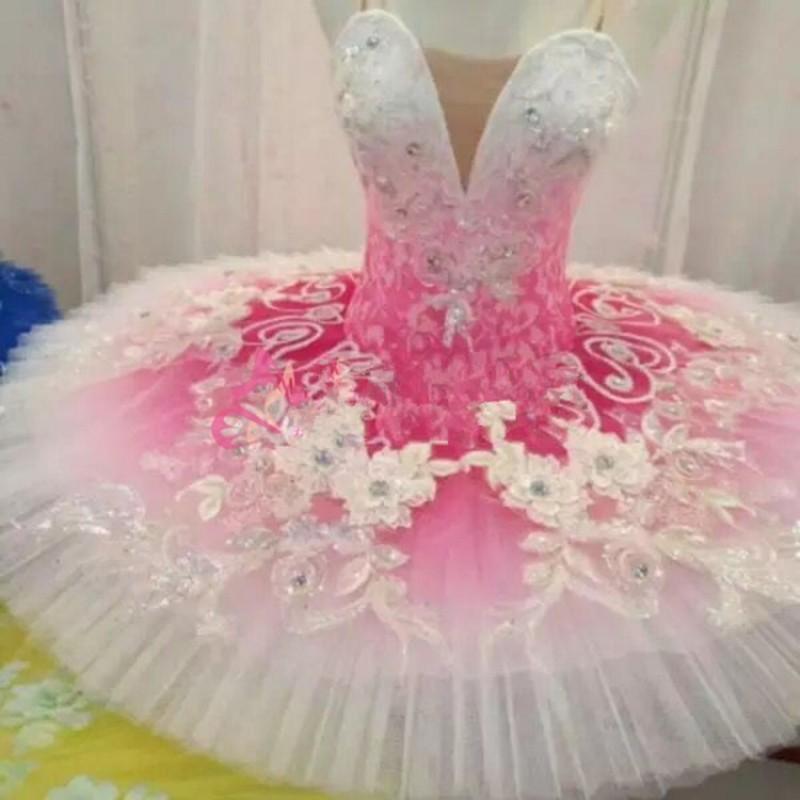 Children Swan Lake Competition Ballet Dresses Pink Color