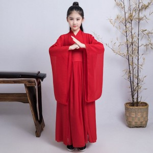 Children's chinese Hanfu ancient costume boys and girls Chinese traditional swordsman warrior prince performance costumes