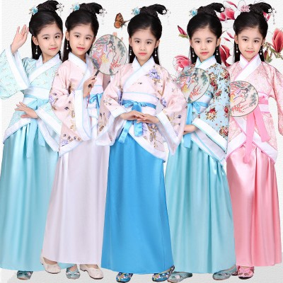 Children's Costume Fairy Princess Chinese style Chinese Hanfu girl suit Miss guzheng performance costume Girl Costume children