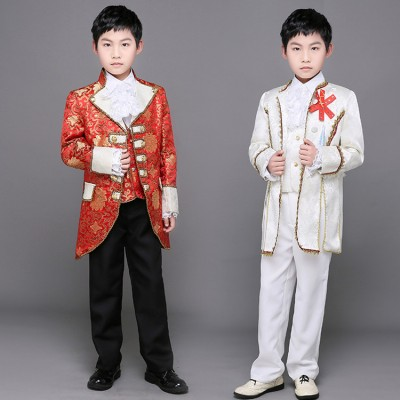 Children's European Court palace Cosplay clothes Boy European Aristocratic Drama Stage Prince Dress Show Drummer performance Costumes
