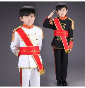 Children's European court palace drama cosplay costumes march boy prince general costume drums clothes stage suits