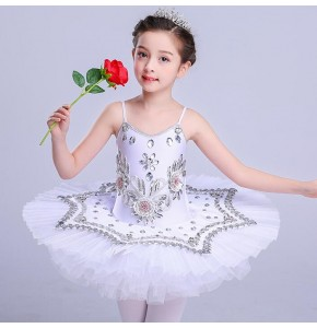 Children's Modern dance swan lake ballet dress fluffy tutu skirt children's stage performance tutu costumes  girls ballet performance clothing