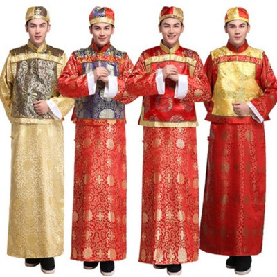 Chinese ancient cosplay clothes Qing emperor Dynasty Manchu Bayer costumes young masters gowns costumes Wangye clothing