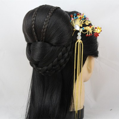 Chinese ancient fairy empress princess hair accessories bride queen headdress hair clip  vintage hair black hair beautiful bride head accessories