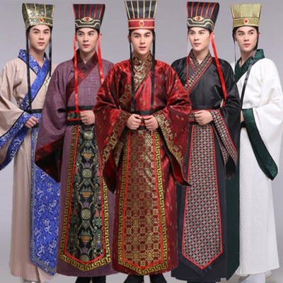 Chinese ancient traditional costumes for men's male Hanfu Dynasty emperor drama cosplay stage performance clothes