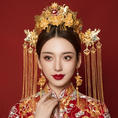 Chinese ancient traditional empress queen princess cosplay hair accessories chinese wedding bridal drama photos cosplay phoenix headdress