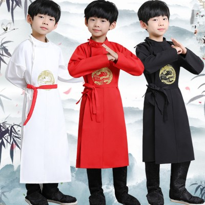 Chinese ancient traditional tang suit  emperor dragon robe for boys  kids children stage performance photography school cosplay outfits