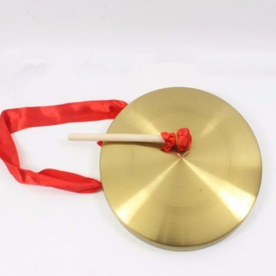 Chinese folk dance accessories lion dance gong high quality copper 30cm in diameter with hammer