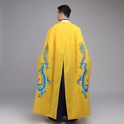 Chinese folk dance Costume cloak men's women drama emperor cosplay photos female model show performance Beijing Opera cosplay cloak